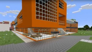 A view of the Nexus Building created in Minecraft.