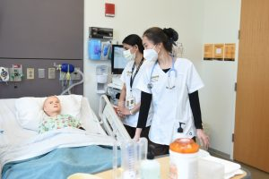 Victoria, a high-fidelity maternal simulator manikin, arrived at CESiL with two baby manikins in March 2019—able to simulate a complete range of situations that nurses may face in the delivery room, from typical neonatal care to obstetric emergencies.