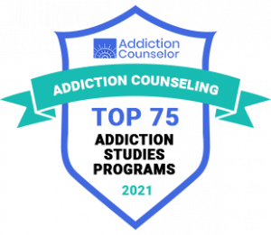Top 75 in Addiction Counselor Badge