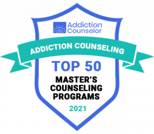 Top 50 Masters in Counseling Badge